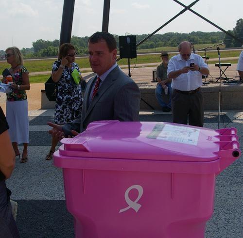 Pink Garbage Cans Raise Awareness News Desototimes Com