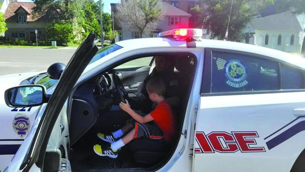 Two brothers donate stuffed animals to DPD