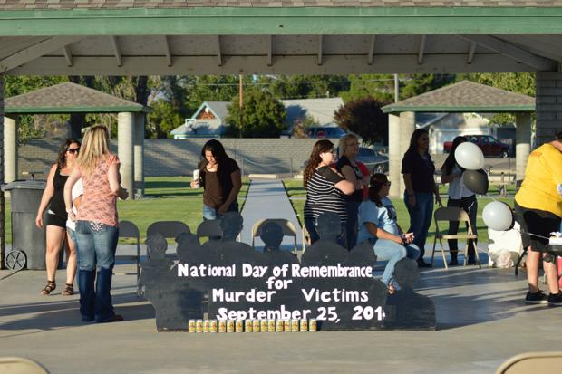 Families remember victims of violence