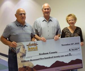 Helping Hands receives grant from Apache Gold Casino