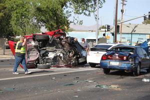 Prius avoids crash