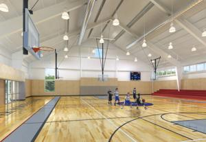 ET PHOTO, Youth Center gym rendering