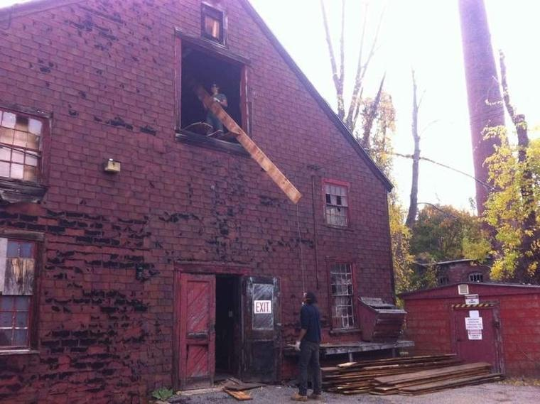 Milling opportunity; Timber from historic barn salvaged for redevelopment of former Abbot Mill