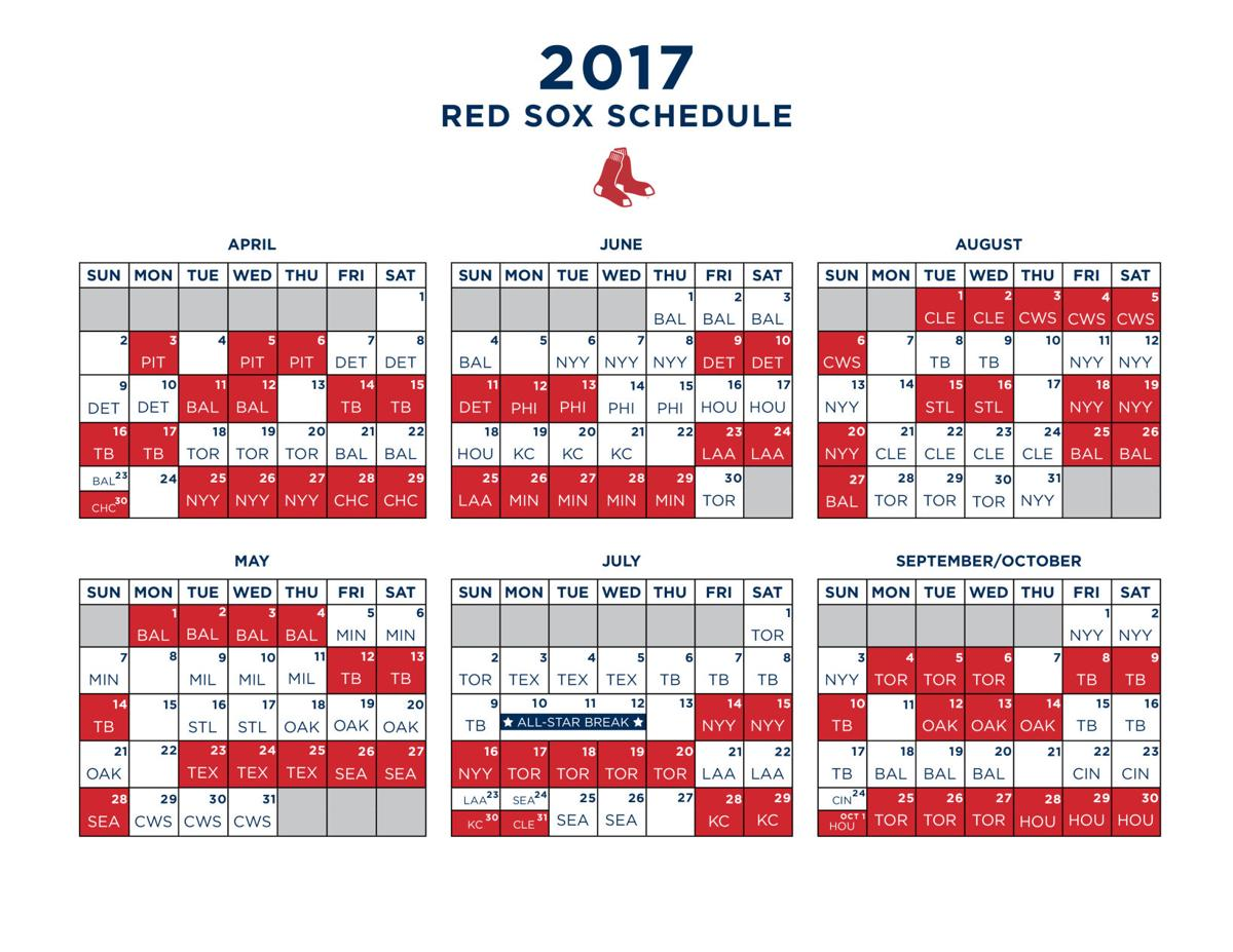 Sox 2017 schedule announced: Pirates will open season in Fenway on ...