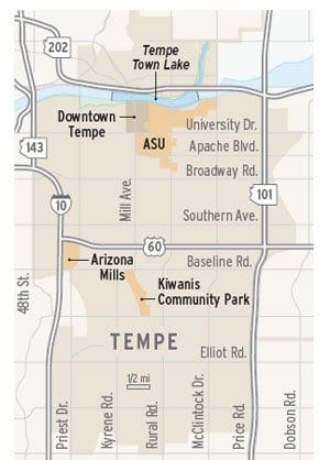 Tempe map