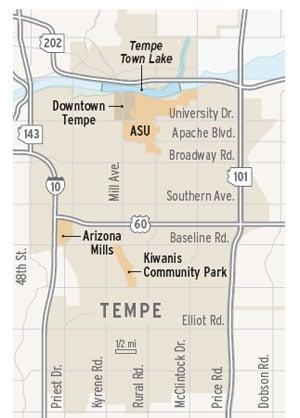 Tempe map