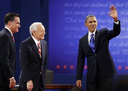 Barack Obama, Mitt Romney, Bob Schieffer