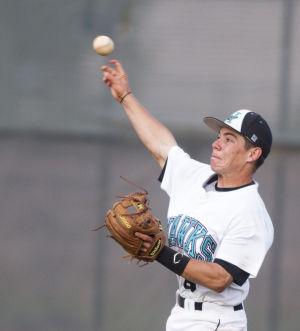 Baseball: Highland Vs Desert Vista: Highland's Chris McKinney (6) throws the ball during the baseball game between Highland and Desert Vista at Highland High School on Wednesday, April 2, 2014. - [David Jolkovski/Tribune]