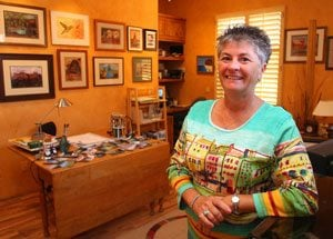 A.J., Gold Canyon artists paint their special place