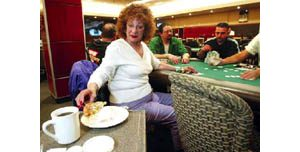 Time stands still for casino gamblers