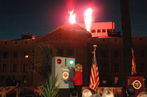 Lighting the capitol dome