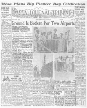 1941 Mesa Tribune page