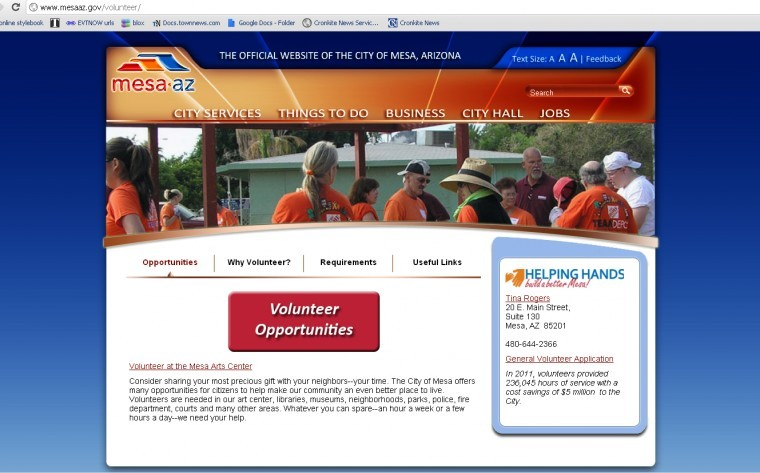 Volunteer Mesa