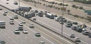 5-car wreck stalls traffic on U.S. 60, Dobson