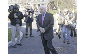 McCain defends Bush's Iraq strategy