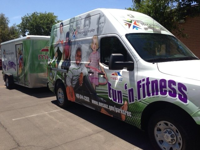 Fun 'n Fitness Van and Trailer