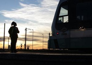 Light rail glides on Valley tracks into history