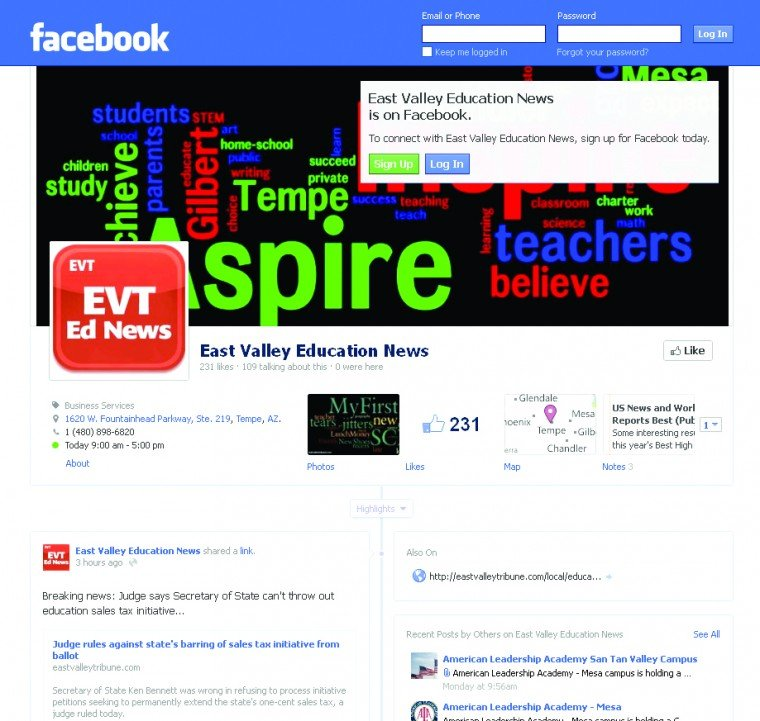 Facebook: East Valley Education News