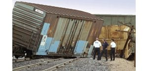 Driver triggers train derailment in Mesa