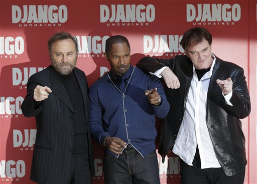 Franco Nero, Jaime Foxx, Quentin Tarantino