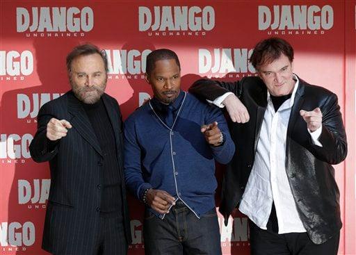 Franco Nero, Jaime Foxx, Quentin Tarantino