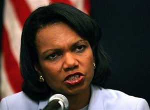 Rice calls for Hamas to work with Abbas