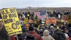 War protests grow in D.C., across U.S.