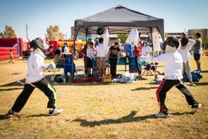 Chandler Day of Play - fencing