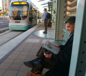 East Valley commuters take to the rails