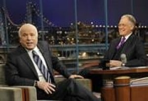 A friendlier McCain visit with David Letterman