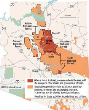 Fire forces forest closures