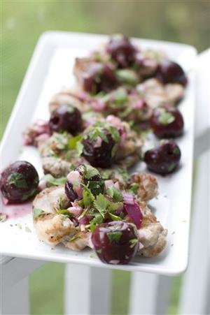 Food Deadline Pork with Cherry Salsa