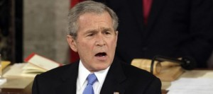 Bush urges perseverance on economy