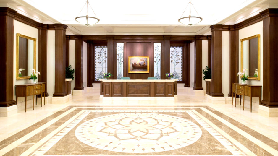 Mormon temple entry