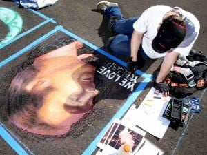 Scottsdale's asphalt art draws curious onlookers