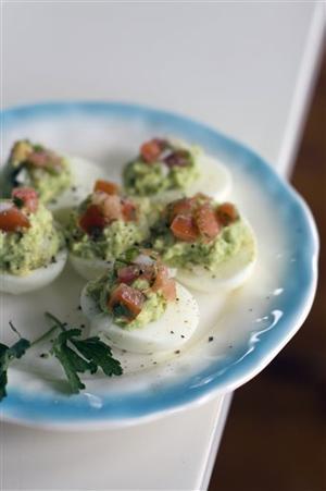 Food-Healthy-Mexican Stuffed Eggs