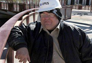 Waterfront worker enjoys seeing progress