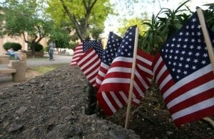 Flags for fallen troops dot ASU campus 