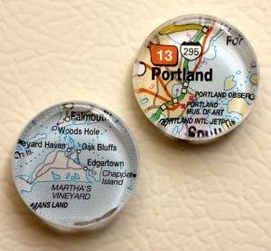Re-style maps into souvenirs, decor