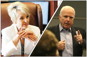 Jan Brewer, John McCain