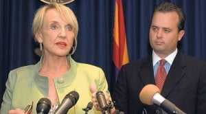 Brewer, Burns try to round up budget votes