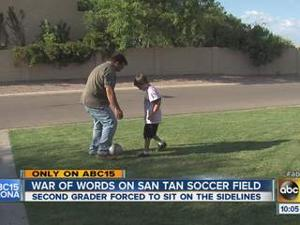Autistic child kicked off soccer team
