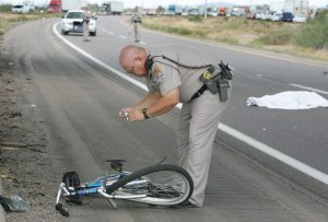 Bicyclist killed in collision with truck on I-10