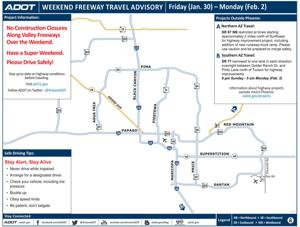 Weekend freeway map