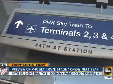 Phoenix Sky Harbor airport Sky Train nears end of 1st phase