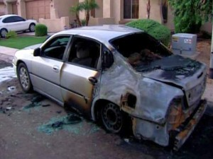 Police investigate burned vehicles in Chandler
