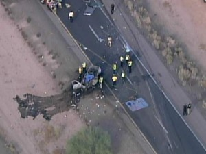 1 dead, several injured in I-10 bus crash near Casa Grande