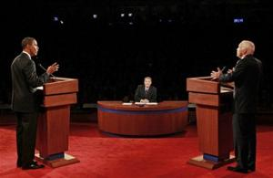 Obama, McCain argue over war, taxes in 1st debate