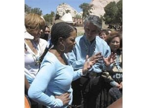 Oprah Winfrey visits Navajo Nation