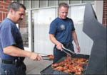 Cooking alarms even bravest of firefighters